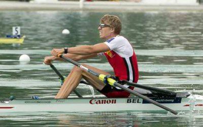 Tim Brys op de  Wereldkampioenschappen Roeien